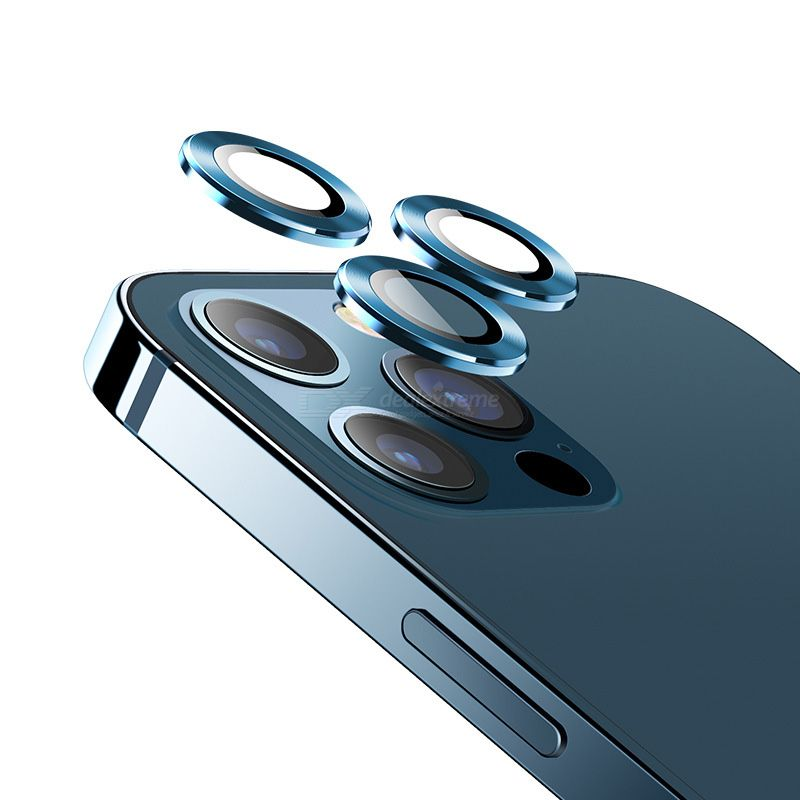 USAMS Camera Lens Protector Metal Frame Explosion-proof Dust-proof For IPhone 12