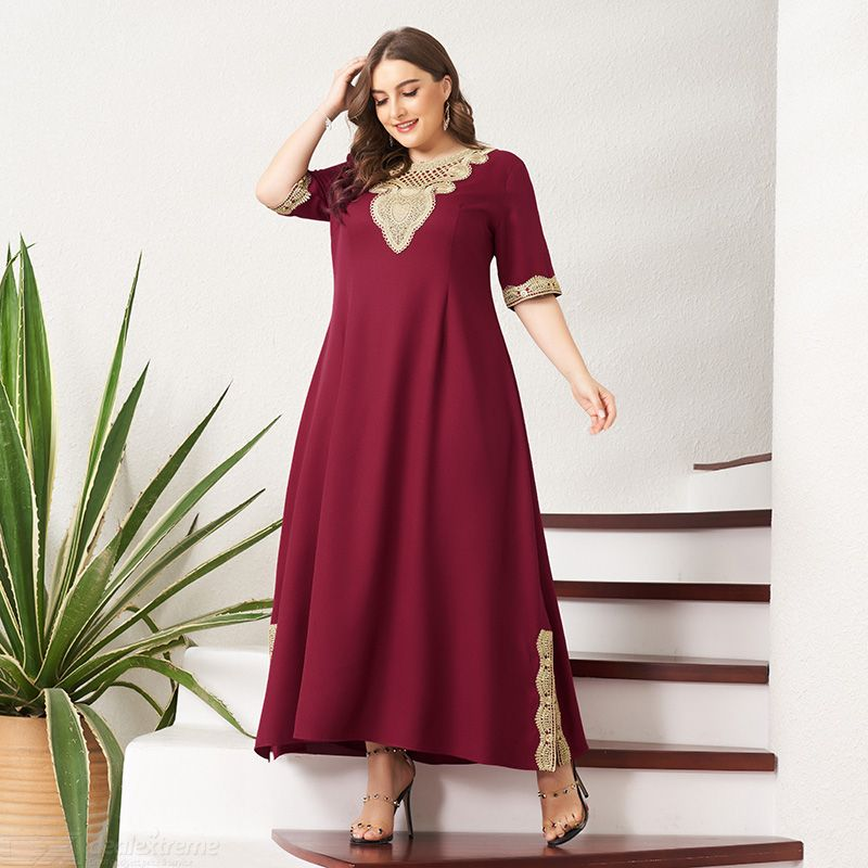 Woman Lace Color contrast Regular Inelasticity Joint Gentry temperament Dress