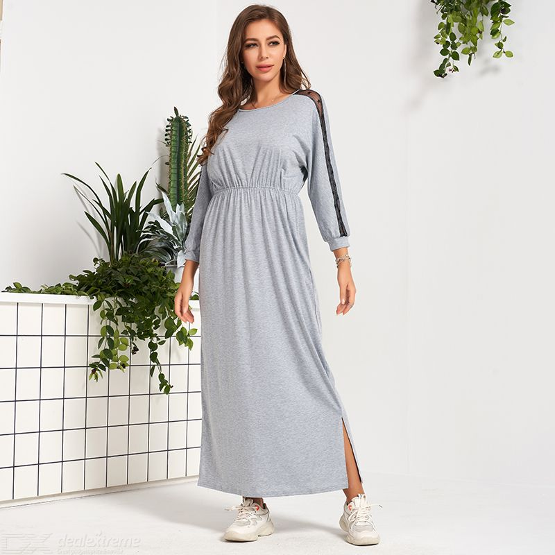 Woman Joint Color contrast Loose Average Elasticity Joint Relaxation Dress