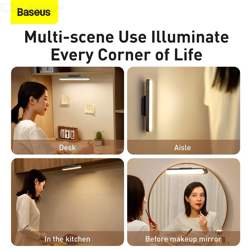 Baseus Magnetic Adsorption Stepless Dimming Rechargeable Reading Table Lamp Eye Protection Light