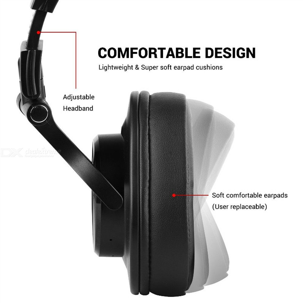 Fusion A70 Bluetooth Headphones Stereo Over Ear Wireless Headset Professional Recording Studio Monitor DJ Headphones