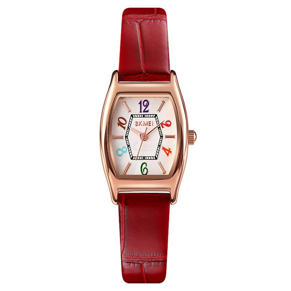 Skmei 1781 Casual Ladies Wristwatch Waterproof Leather Strap Quartz Watch For Students