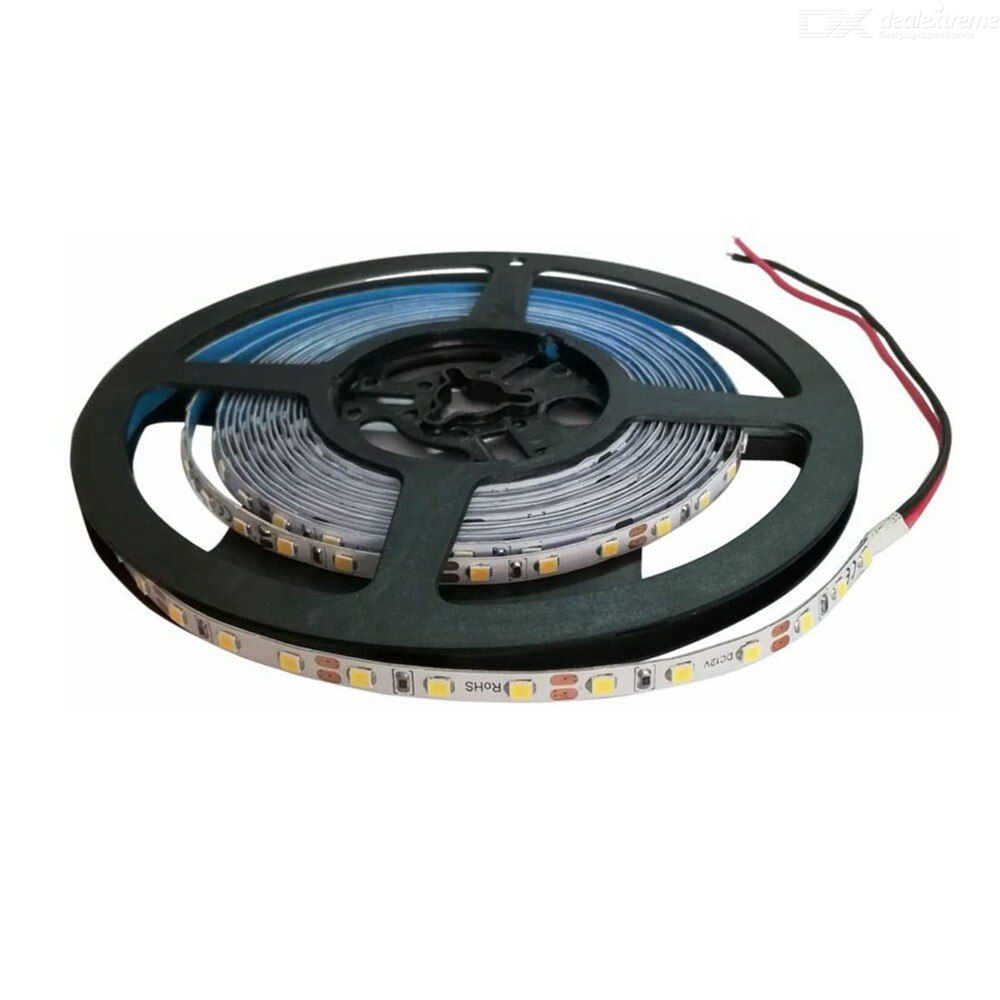ZHAOYAO Highlighted 5mm 60W DC 12V Not waterproof 2835SMD 5M 300LEDs Warm white LED strip lights