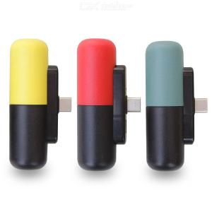 Mini Capsule Wireless Power Bank 3300mAh Type-C Outdoor Battery Charger