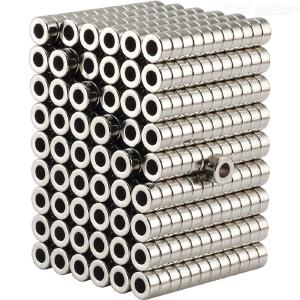 100pcs/set 63mm round powerful small magnet with hole
