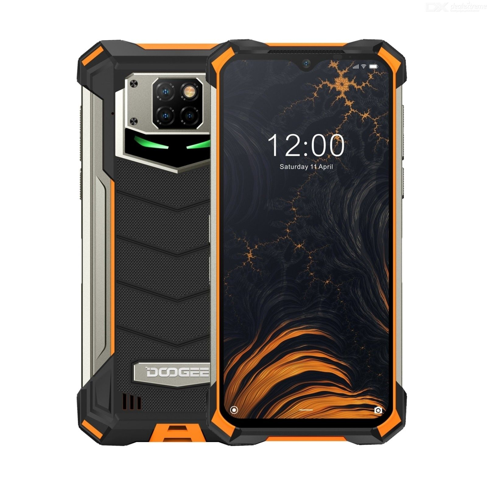 Doogee S88 Plus 6.3-inch Army Green 8+128G Helio P70 2.1GHz octagore standard smartphone