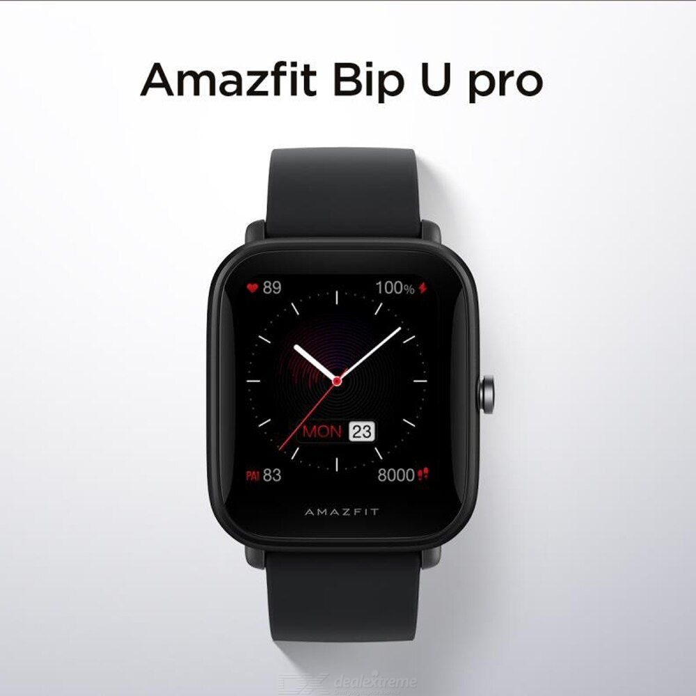 Amazfit Bip U Pro Smart Watch Fitness Tracker Waterproof Built-in GPS Color Screen Watch 1.43quot Large HD Display Blood Oxygen