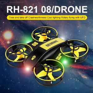 H36 RC UFO Mini Drone Helicopter 4CH Toy Quadcopter Drone Headless 6 Axis One Key Return 360 Degree Flip LED Lights  Kids Toy