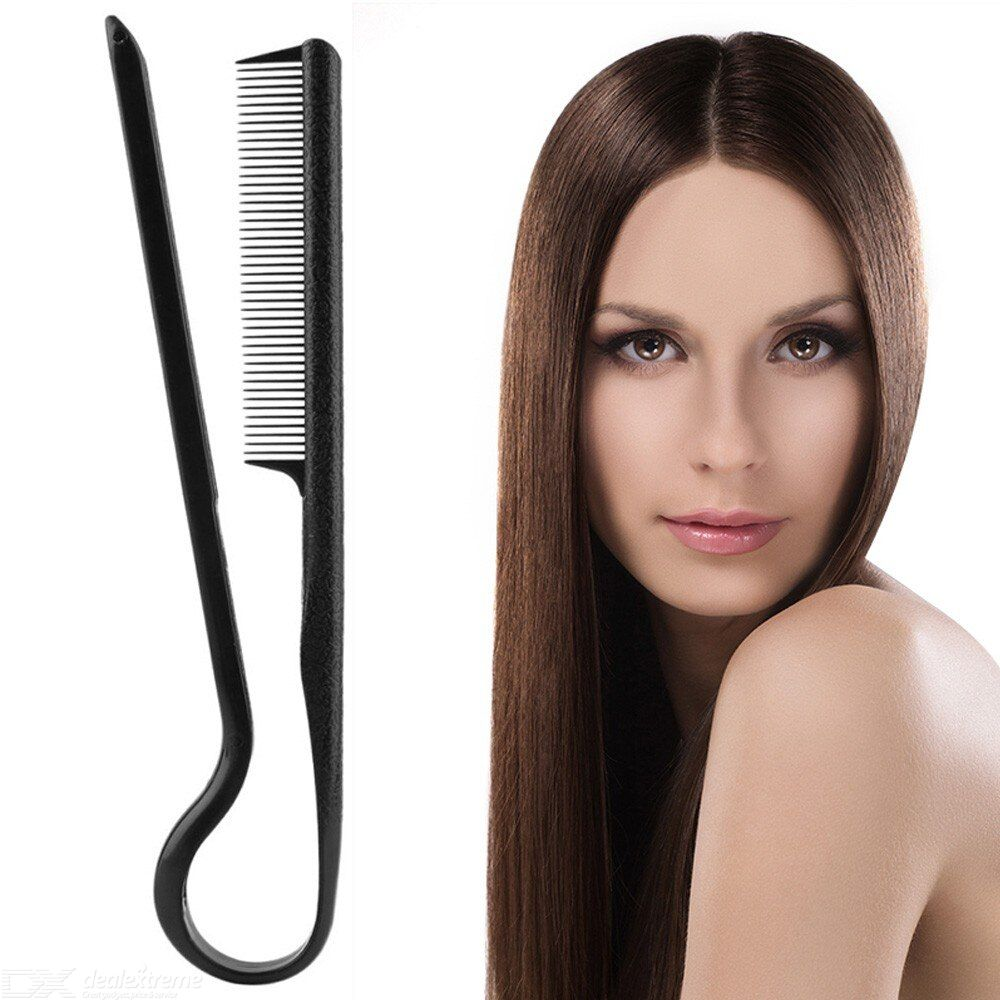 Hair Comb 2 IN 1 Comb Hair Straight Styler Fashion Straight Hair Comb Portable Effective Hair Tools Black Comb
