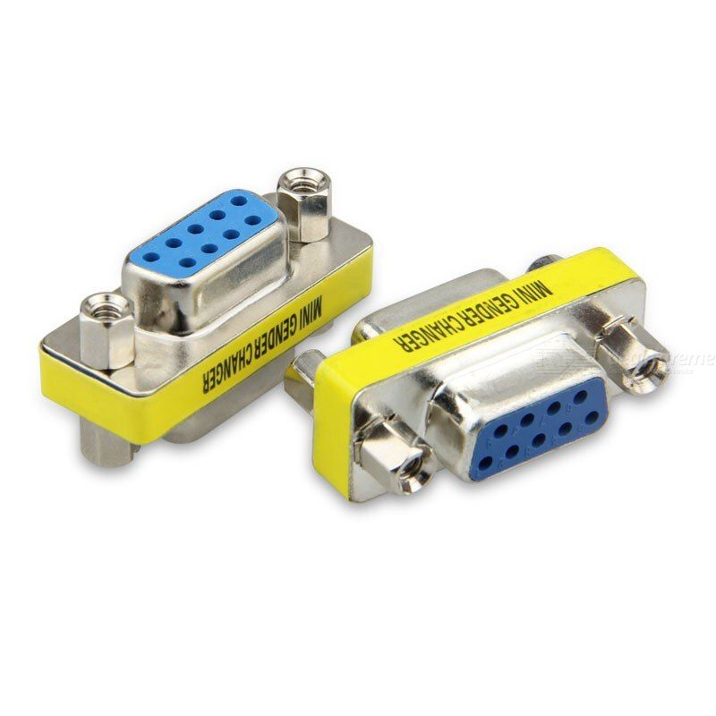4pcs/ db9 9pin male to male mini rs232 adapter gender converter serial connector