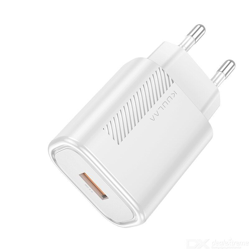 Kuulaa KL-CD11-1 Wall Charger QC 3.0 18W Fast Charging PC Fireproof Material