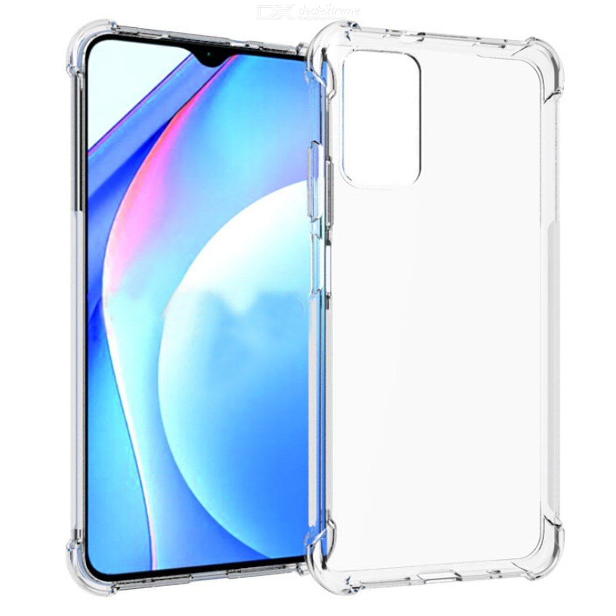 ASLING Four-corner Airbag Soft Phone Case Protective Back Cover for Xiaomi Redmi 9T
