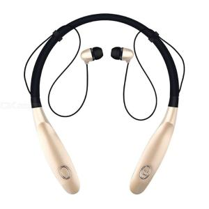 Sport Bluetooth Earphone 3D Stereo Earbud neck-strap Design With Mic Portable 350mAh Big Battery 15hours Work Headset