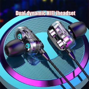 Universal In-Ear Gaming Headphones Heavy Bass Wired Stereo Headphones With Microphone