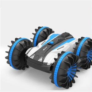 4WD Amphibious Remote Control Car Toy Waterproof Double-sided Waterproof 360 Degrees Rotation Stunt Car