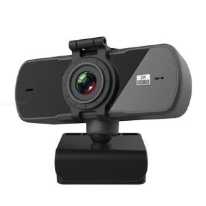 PC05 USB Webcam 2K High-Definition Computer Camera 360-degree Conference Cam with Microphone Driver Free Video Webcam