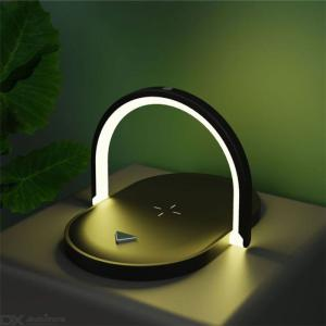 3-in-1 Multi-function 15W Wireless Charger Mobile Phone Holder Desktop Night Lamp