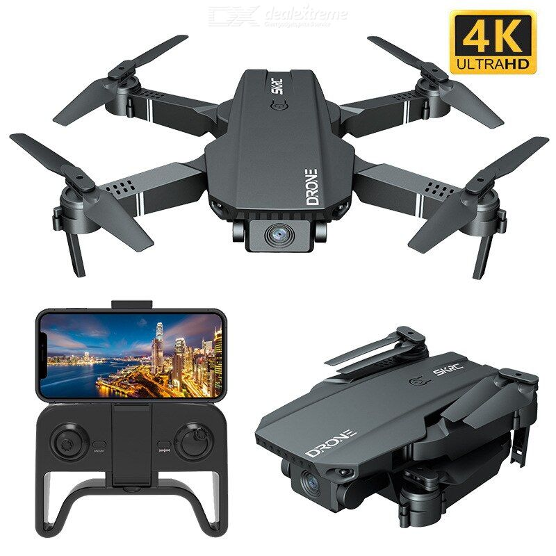 Foldable Drone Portable 4K HD Camera 360-degree Scroll Six-axis Gyroscope Headless Mode