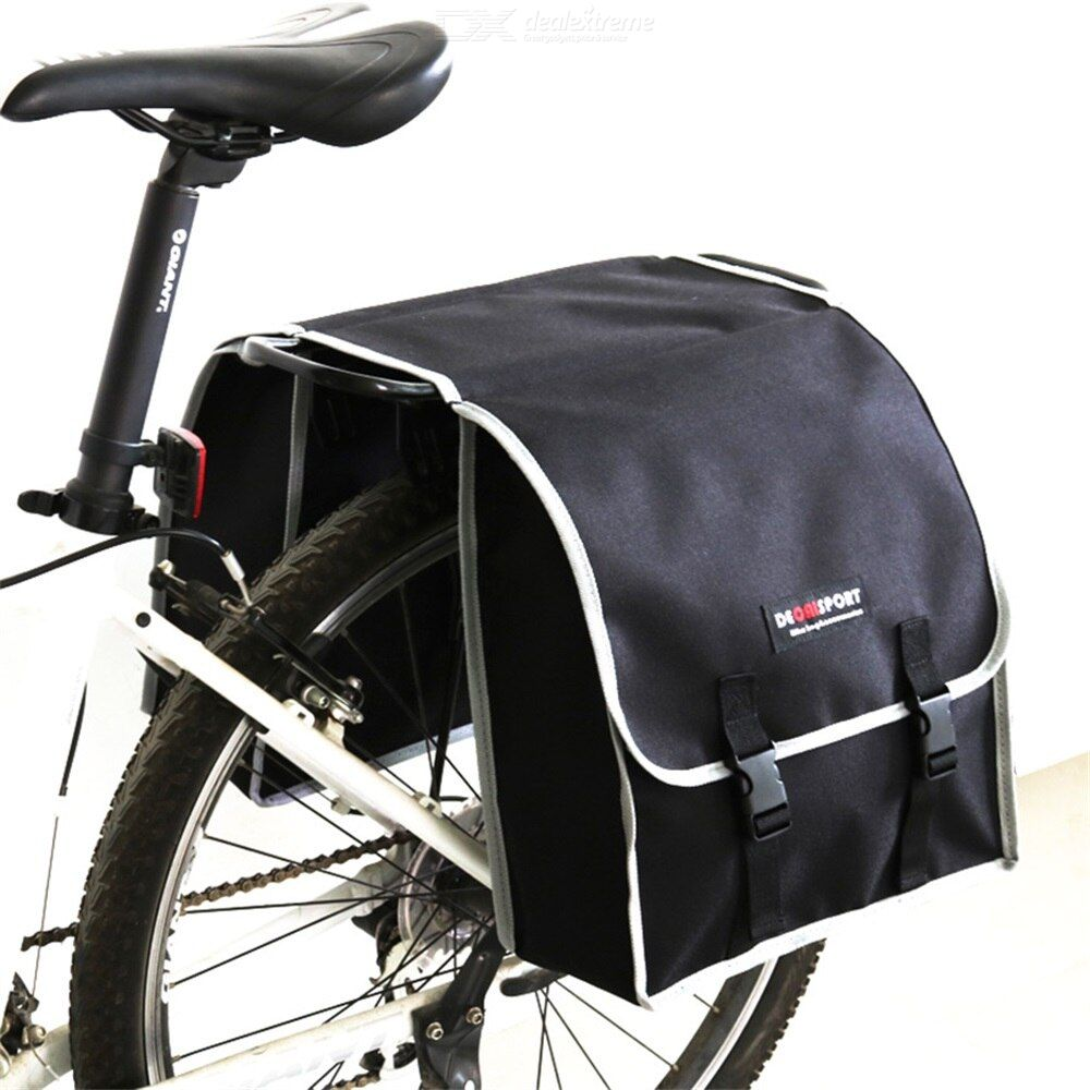 Bicycle Carrier  Bag Bike Back Seat Double-side Cycling Bag