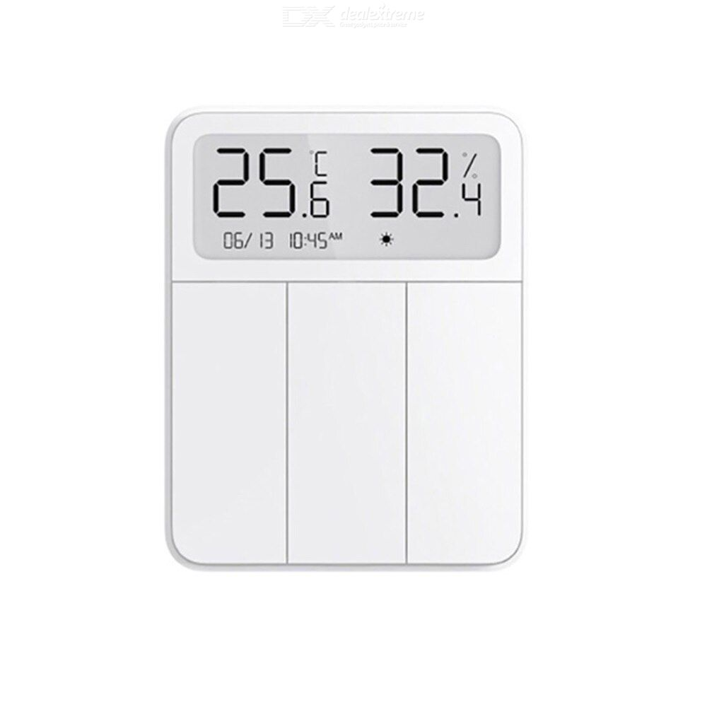 Xiaomi Mijia Screen Display Switch Smart Humidity And Temperature Display Wall Switch With Three Ope