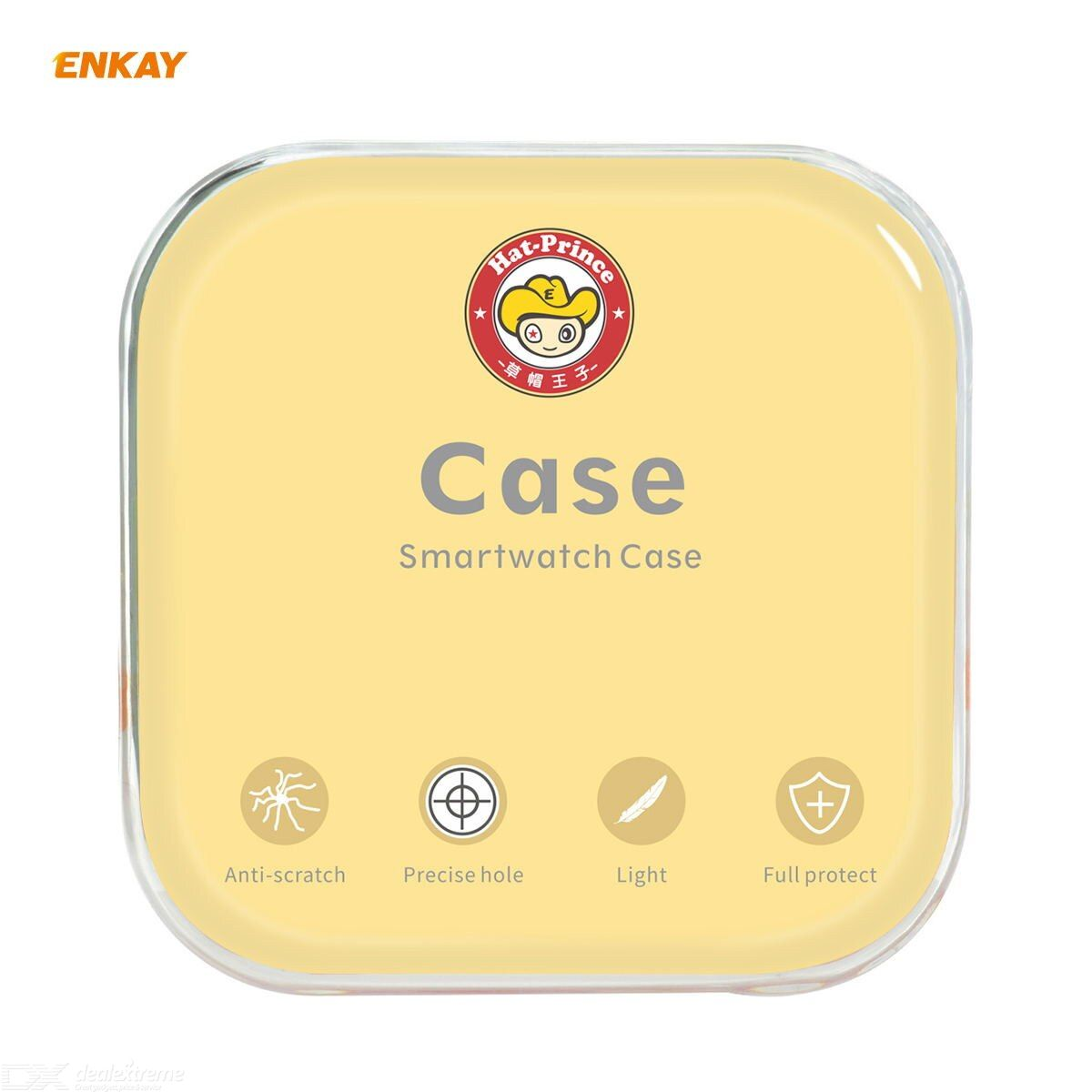 ENKAY Hat-Prince Full Coverage Electroplated PC Case + Tempered Glass Protector for Apple Watch Series 6 / 5 / 4 / SE 40mm