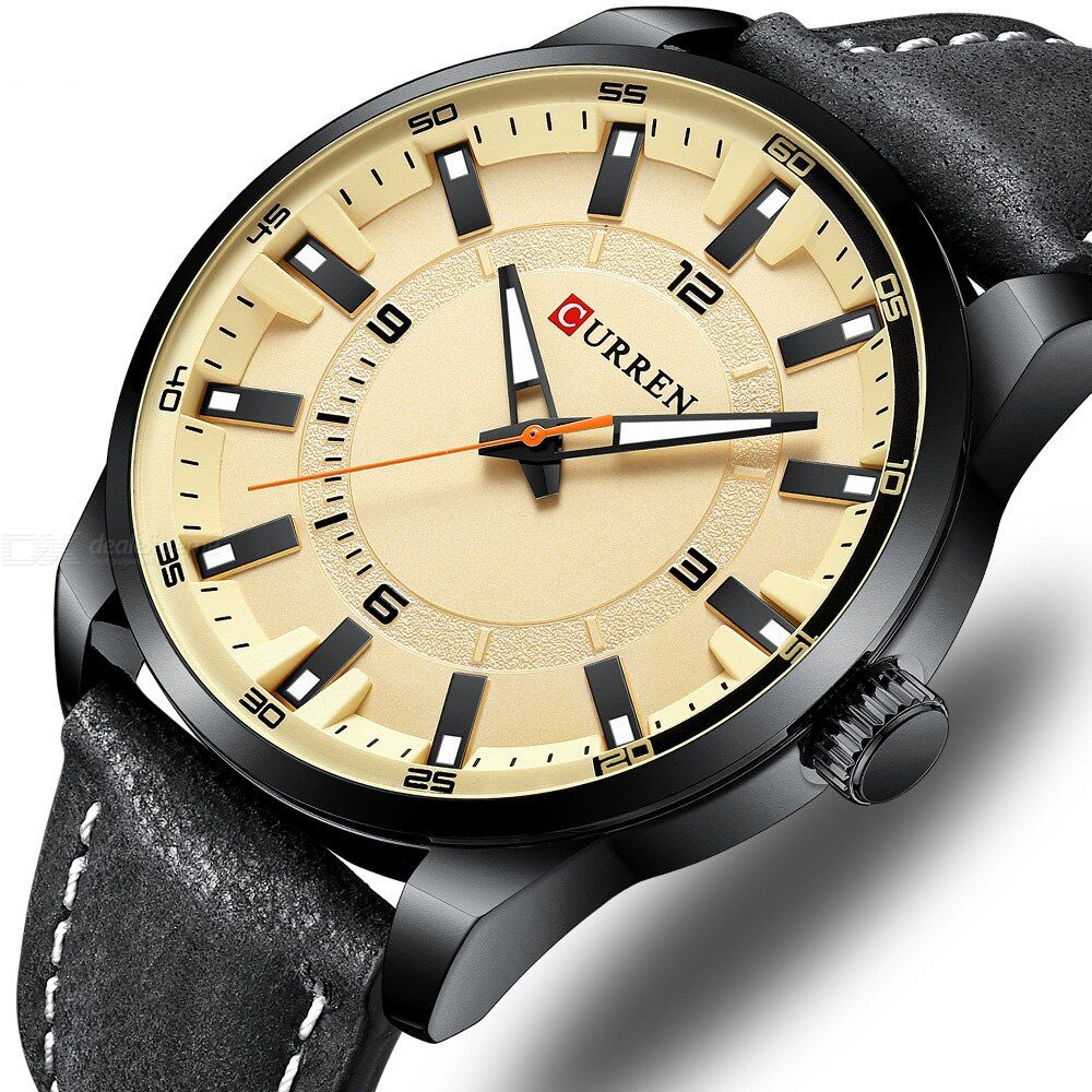 Curren 8390 Men Watch Casual Business Leather Strap Watch