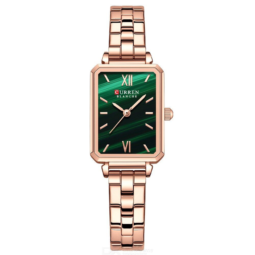 Curren 9082 Fashion Women Square Dial Watch Casual Stainless Steel Strap Watch