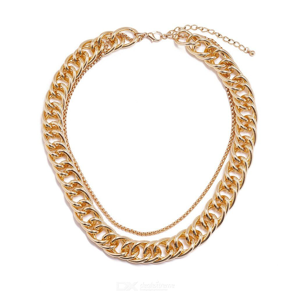 European Style Metal Chain Fashion Personality Simple Necklace
