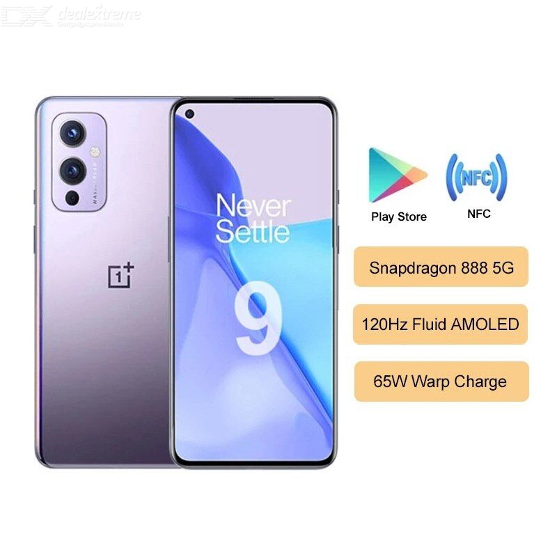 Global Rom Oneplus 9 5G Smartphone 8GB 128 Go 6.55inch 4500 MAH 120HZ Fluide AMOLED NFC Android 11