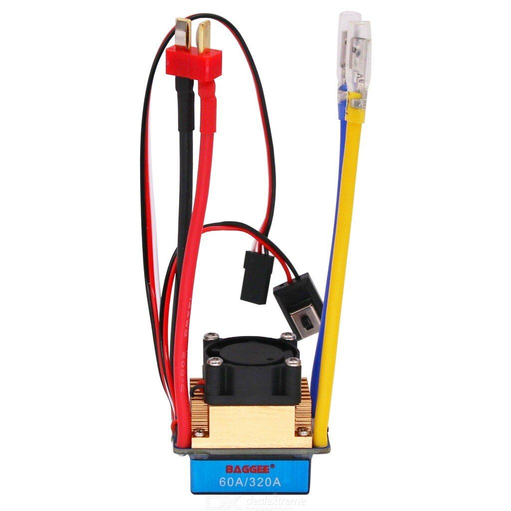 BAGGEE 1/10 320A/60A waterproof two-way brushed ESC motor (with motor fan + with brake)