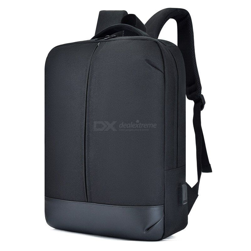 Mens And Womens Simple Large-capacity Travel Backpack Business Computer Bag USB Charging School Bag Stitching Backpack