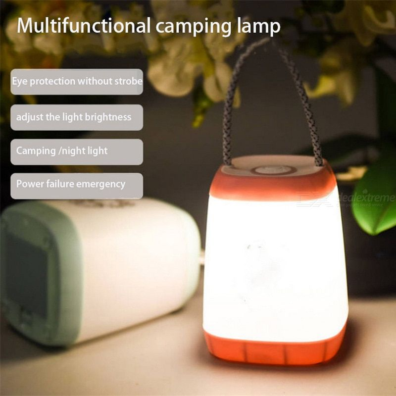 Bedroom Table Lamp Rechargeable Eye Protection Sleeping Night Light Outdoor Camping Portable Light