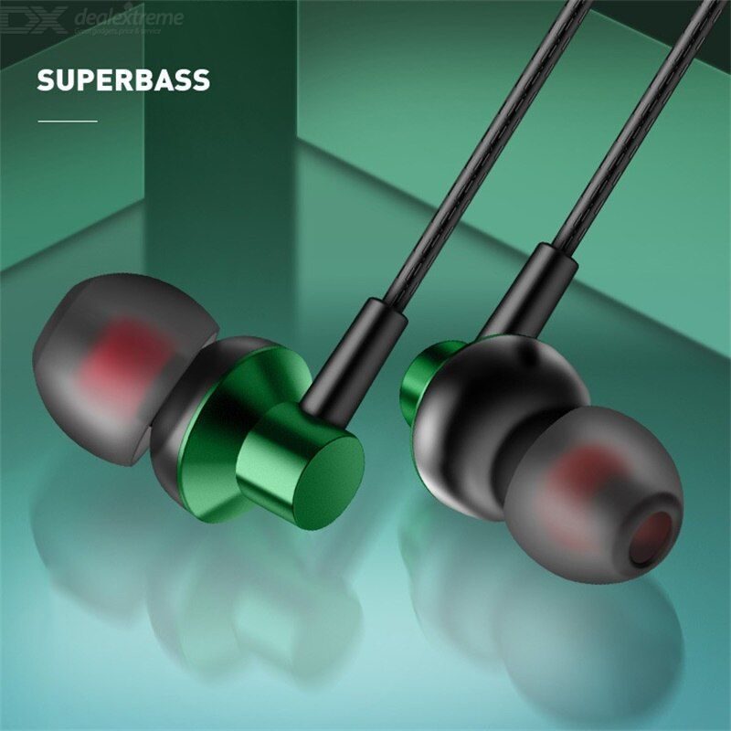 A03 Oblique In Ear Elbow Headset Metal Heavy BassFor Listening To Songs Wired Wire Controlled Call With Wheat Earplugs