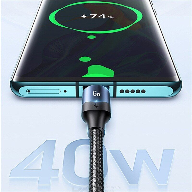 USAMS One For Three 6A Fast Charge Data Cable For Apple Huawei Xiaomi Type-C Android Fast Charge