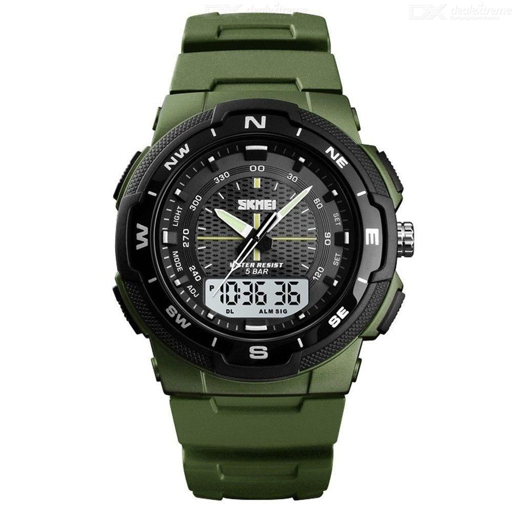 Dx coupon: SKMEI 47mm Mens Casual Waterproof LED Digital Sports Watch With Dual Time Display 1454