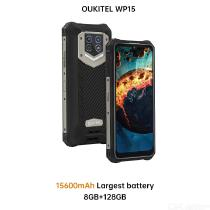 5G Oukitel WP15 Smartphone 15600mAh 8GB+128GB 6.5HD+ Octa Core Android11 Mobile Phone 48MP MT6833 NFC Smartphone Cell Phone