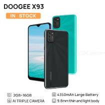 DOOGEE X93 Mobile Phone 9.8 mm Thin And Light Body Android 10 AI Triple Camera 8MP 6.1-Inch Water Drop Screen 4350mAh Smartphone