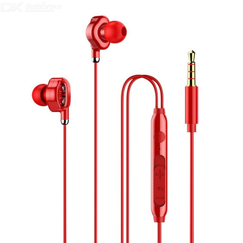 The Aew Quad-core Heavy Bass In-ear Wired Headset With Microphone Adjustable Pitch And Sound Quality Music Game Headset