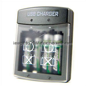 AA / AAA Batteries USB Charger - Free Shipping - DealExtreme