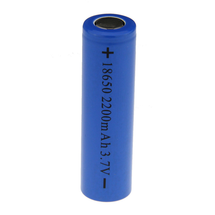 Rechargeable 3.6V 18650 2200mAh Battery - Blue