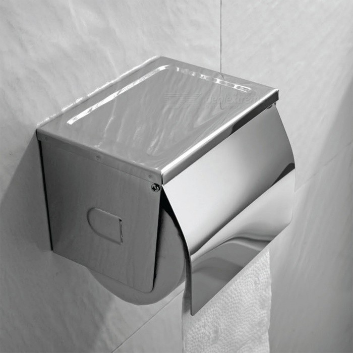 Buy Modern Stainless Steel Toilet Paper Holder - Silver with Litecoins with Free Shipping on Gipsybee.com