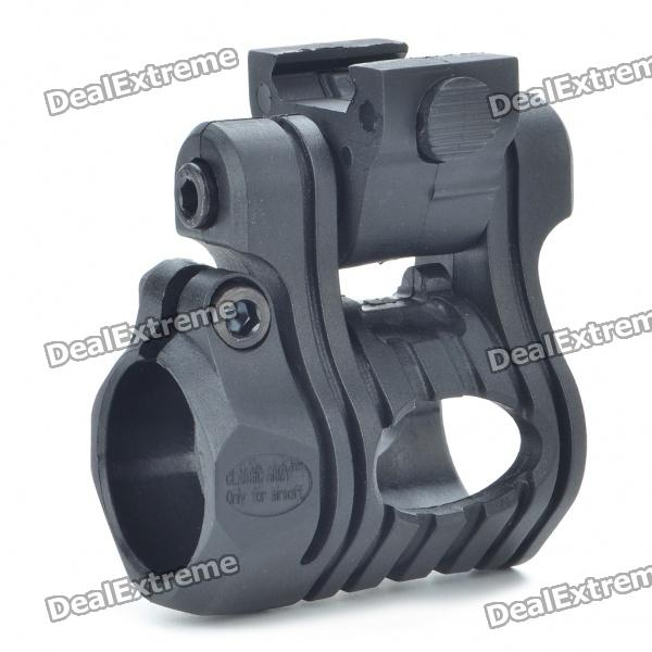 Multi-Position Flashlight Gun Mount for Picatinny Rail - Black