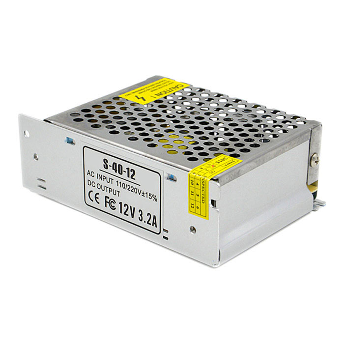 S-40-12 12V 3.2A Power Supply Transformer for Bulb - Silver (110~220V)Switching Power Supply<br>Form  ColorSilverPower40WPacking List<br>