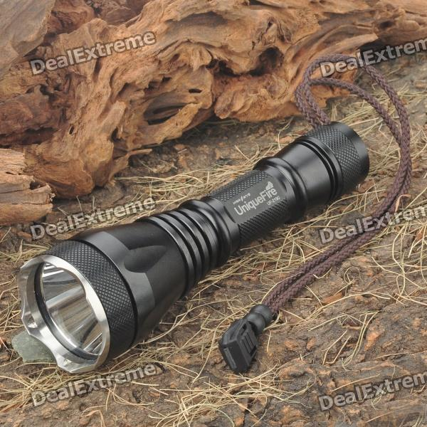 UniqueFire UF-2190 3-Mode 1000-Lumen White LED Flashlight w/ Strap - Black (1 x 18650)