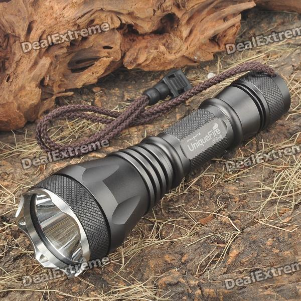 UniqueFire UF-2190 1-Mode 900-Lumen White LED Flashlight w/ Strap - Gray (1 x 18650)