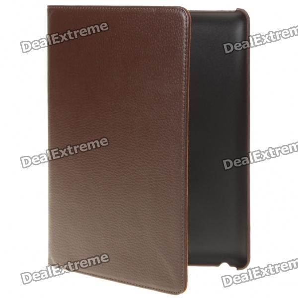Protective-Swivel-PU-Leather-Case-for-Ipad-2-Coffee