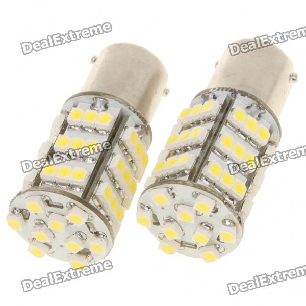1156 BA15S 3.25W 6500K 216lm 54-3528 SMD LED White Light Bulb (Pair)Signal Lights<br>Form  ColorWhiteEmitter Type3528 SMD LEDTotal Emitters1Color BINWhitePower1WColor Temperature:6000~6500KConnectorConnector Type1156ApplicationBackup lightPacking List<br>