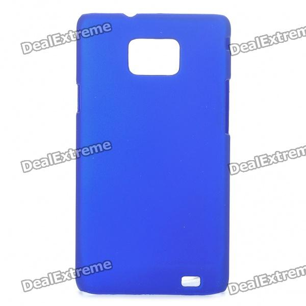 Protective Matte Frosted ABS Back Case for Samsung Galaxy S2 i9100 - Blue