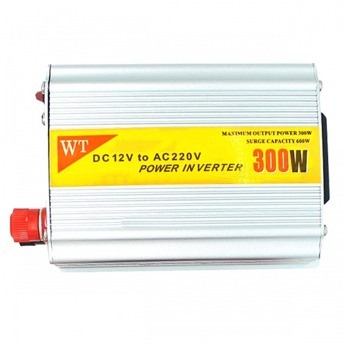 Buy 300W 12V DC to 220V AC Power Inverter with Connection Kits with Litecoins with Free Shipping on Gipsybee.com