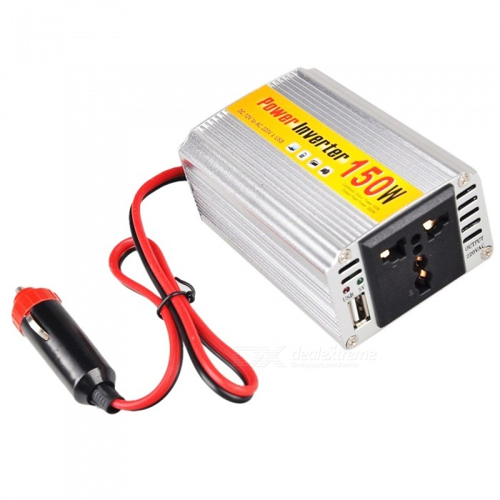 Buy 150W DC 12V to AC 220V Power Inverter with Litecoins with Free Shipping on Gipsybee.com